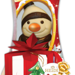 Mos Nicolae cu figurine de ciocolata Heidi