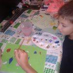 Tablou pictat cu numele copilului