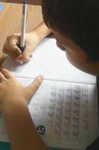 Emotia primelor litere de mâna
