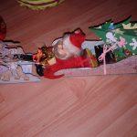 Sanie din cutie de carton – craft pentru copii