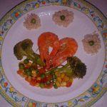 Creveti cu legume si orez