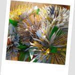 Crizanteme din carton de pliante