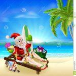 christmas-santa-tropical-beach-scene-illustration-summer-relaxing-under-coconut-tree-surf-board-gift-sack-34386039
